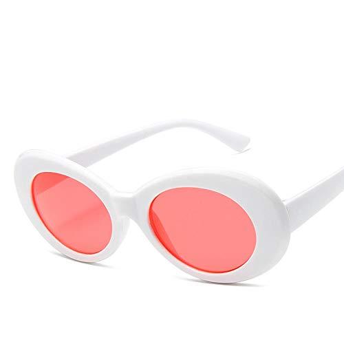 Gafas de Sol Sunglasses Gafas De Sol Ovales Clásicas Mujeres Hombres Gafas De Sol Diseñador Damas 14 Colores Uv400 Whitered