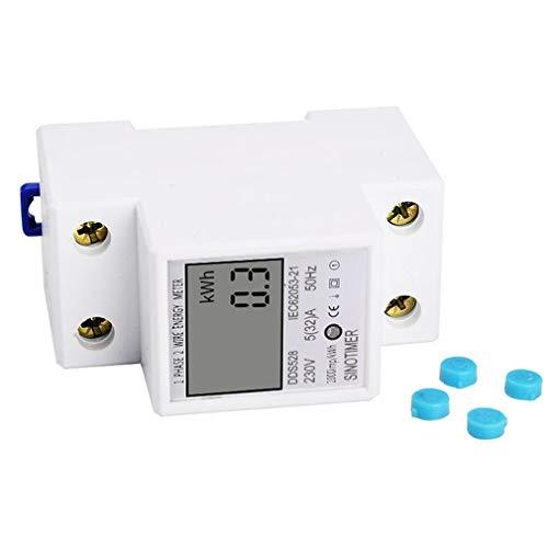 SINOTIMER Stroomverbruik Energie Watt Amp Volt Meter Monitor Analyzer KWh AC Wit