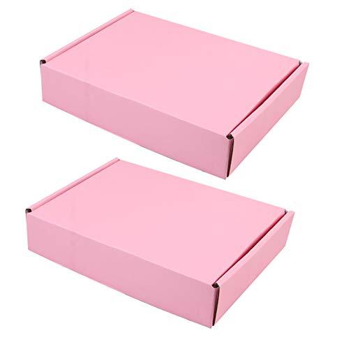 TOYANDONA 10 Stück Rosa Wellpappe Mailer Karton Versandkartons 200X140x40mm Kleine Verpackung Umzugskartons Kraft Mailing Verpackungskoffer für Stoffhosen Kleine Gegenstände