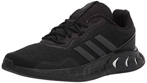 adidas Men's Kaptir Super Running Shoe, Black/Black/Grey, 11.5