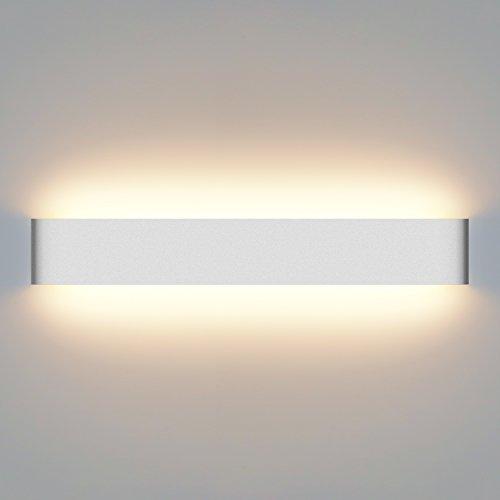 Yissvic Wandleuchte Innen LED Wandlampe 20W Wandbeleuchtung Badlampe Wasserdicht IP44 2800K Warmweiß 61cm