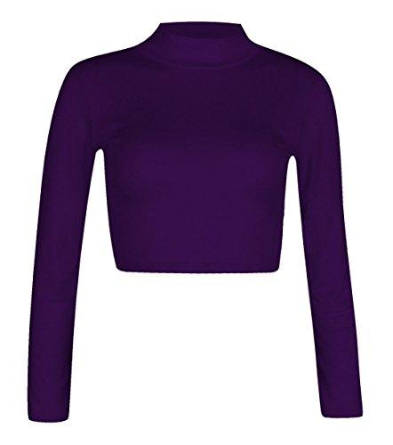 Fashion para mujer Polo 4 menos con cuello alto de manga larga para muñecos elásticos con camiseta de fútbol para hombre Pack de costura para camisetas de mujer T-camiseta de manga corta