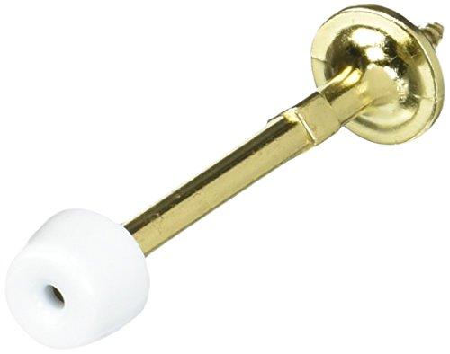 NATIONAL MFG/SPECTRUM BRANDS HHI N830-101 830101 Rigid Door Stop, 3-Inch, Polished Brass -  STANLEY