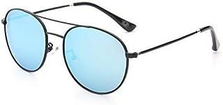 Fashion Frog Mirror Fashion Trend Sunglasses Gift (Color: Blue) Household Beautiful Metal Children's Sunglasses Retro (Color : Blue)