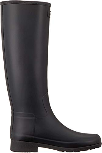 HUNTER Damen Original Refined Gummistiefel, Schwarz (Black), 39 EU