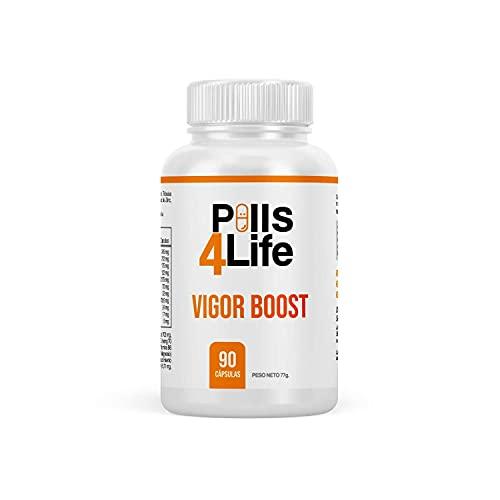 Booster de Testosterona | Vigorizante y Potenciador de la libido | Mejora el Rendimiento Físico y el Crecimiento Muscular | Maca Andina Pura, Tribulus, Ashwagandha, Taurina, Ginseng | 90 Caps.