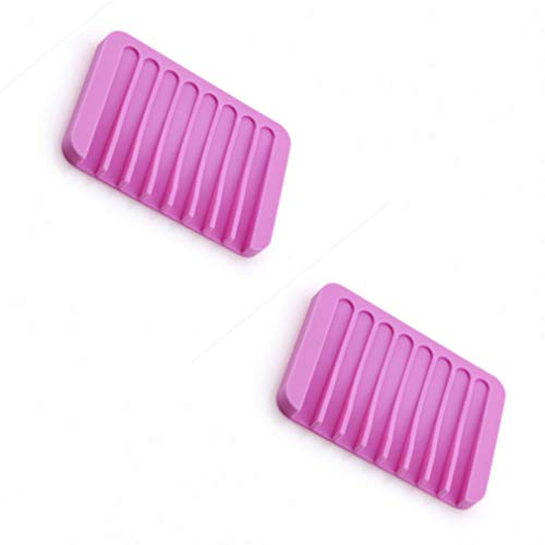 XZJB Jabonera, silicona antideslizante, soporte de jabón para jabonera, soporte para platos de almacenamiento de jabón