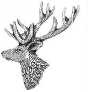 Pacco Regalo Peltro Testa di Cervo Spilla o Spilla Regalo per Sciarpa, Cravatta, Cappello, Cappotto o Borsa