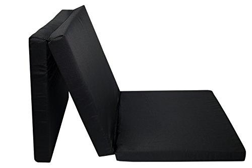 ZOLLNER Colchón Plegable para Invitados, 65x195 cm, Negro