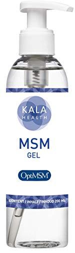 Kala Health - OptiMSM® Haut und Gesicht - MSM Gel - Lotion - 200 ml Balsam - Enthält MSM (Methylsulfonylmethan) - MSM salbe Stärkt, beruhigt und steigert die Regenerationsfähigkeit Ihrer Haut