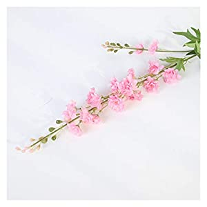 JSJJAED Artificial Flowers 80cm Artificial Flowers Delphinium Fake Violet DIY Orchid Flowers Fake Flowers Bouquet Arrangement Wedding Home Decor Autumn (Farbe : Dark Pink)