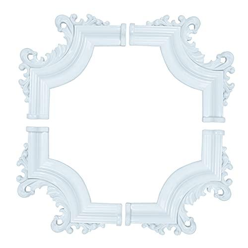 Yuzzy Flexible Molding Trim Wall Trim Corner Molding Corner (8-Pack) (White)