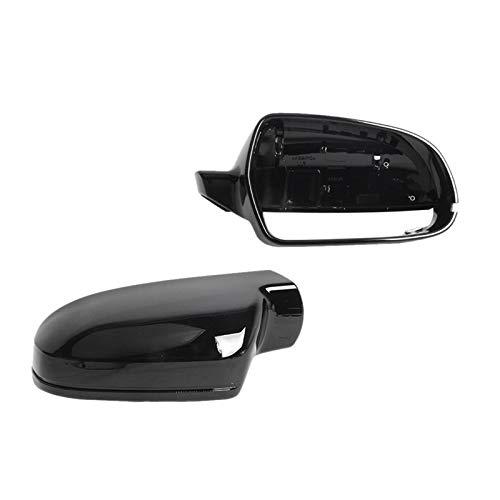 JKBDNB Flügel-Spiegel-Abdeckung, Links Rechts Gloss Bright Black Rearview Außenspiegel Abdeckkappe Für-Audi A4 B8.5 S4 2010-2015 A3 S3 2011-2013 A5 S5 2010-2016