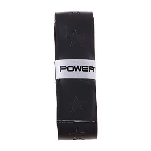 perfk Rutschfestes Premium Griffband Griffbänder Anti Rutsch Overgrip Band für Tennis, Badminton, Squash, Tischtennis - Schwarz