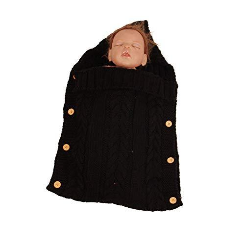 BaronHong Newborn baby wrap babydeken, wol knit swaddle Kids slaapzak kinderwagen wrap slaapzakken