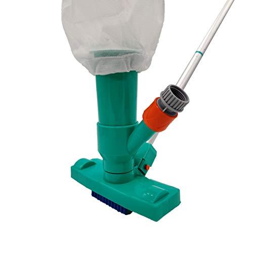 NHBETYS Pool Mini Jet Vacuum Cleaner with Brush, Bag, 5 Pole...