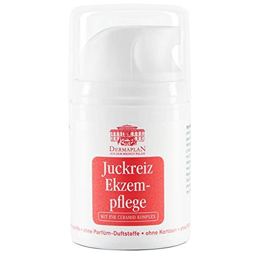 DERMAPLAN - Ekzem Pflege - Salbe gegen Juckreiz und trockene Haut 50ml/150ml - Creme bei Schuppenflechte, Neurodermitis und Rötungen - Hautpflege Made in Germany - 100% vegan