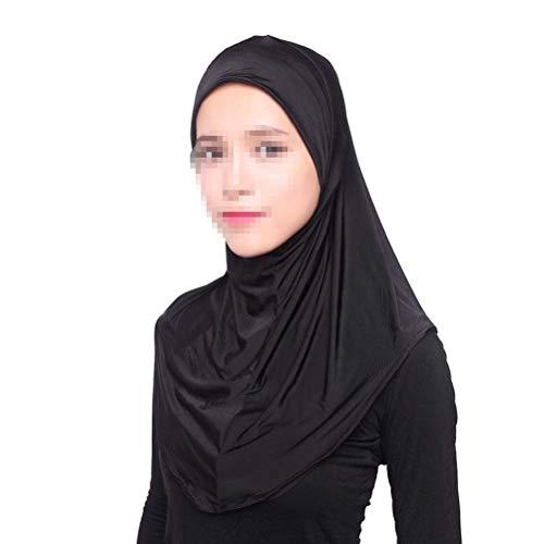 BESTOYARD Pañuelo islámico Ajustable musulmán Hijab Suave y cómodo 72x72cm