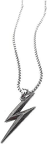 WYDSFWL Collar Charm Simple Mens Acero Inoxidable Flash Colgante Collar Hip Hop Heavy Long Decorativo Suéter Cadena Regalos