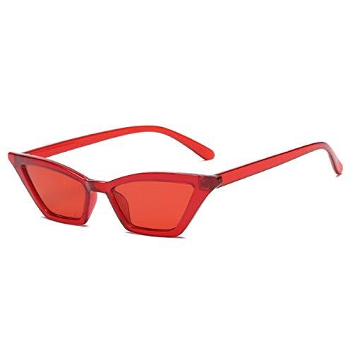 NJJX Gafas De Sol Vintage Para Mujer, Ojo De Gato, Gafas De Sol De Lujo, Retro, Pequeñas, Rojas, Gafas De Sol Para Mujer, Gafas De Moda Redclear