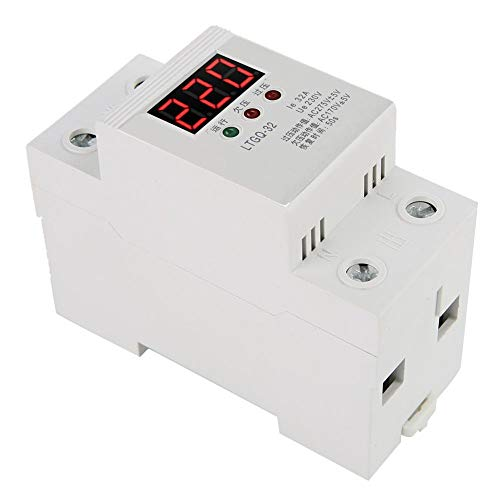 Spanningsbeveiliging 230 V, onderspanningsrelais, 2P / 32A digitale spanningsrelais, 32A voor het energieverbruik in het huishouden.