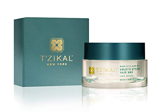 T'zikal Smooth Styling Hair Wax (Large) - Luxurious Natural Hair Wax Blend of Pure Ojon Oil and Avocado Oil - Used as an All Natural Hair Styling Product for Men and Women to Repair Dry Damaged Hair