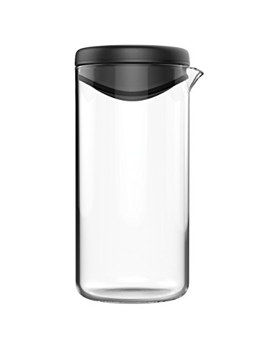 Fiskars Dressing-Shaker, Glas/Kunststoff, 380 ml Fassungsvermögen, Functional Form, Schwarz, 1014347