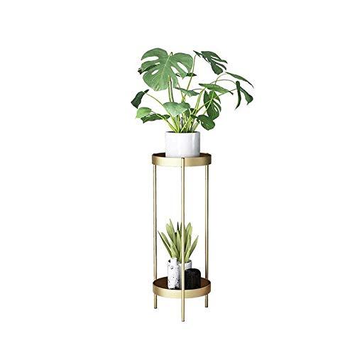WUHUAROU Metall Pflanzenständer Mehrschichtig Boden Stehender Blumenständer Pflanze Blumentopf Rack Display Regal Hoch 50cm Pflanzenständer Metall Für Innen Außen Gold