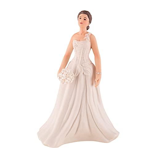 Weddingstar Contemporary Vintage Bride Wedding Cake Topper, Wh