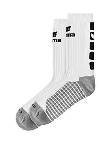 Erima Kinder Classic 5-C Socken, weiß/Schwarz, 31-34