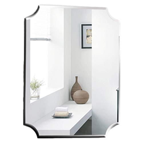 Miroirs Miroir Miroir Mural Européen Miroir De Maquillage Miroir De Salle De Bain Miroir Dressing Accessoires Muraux Miroir Étanche Cadeau (Color : Blanc, Size : 70 * 50cm)