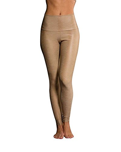 Onzie Yoga High Rise Legging 228 Taupe Snake (Taupe Snake, X Small)