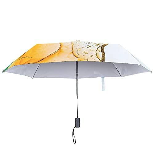 Paraguas plegable con tinta de textura de mármol, automático, resistente al viento, 8 varillas invertidas, Blanco3 (Blanco) - Knowikonwn-UBR