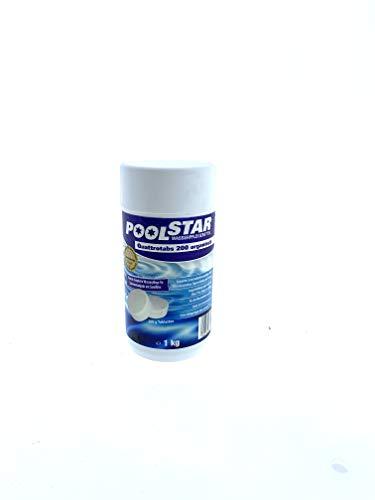 Quattrotabs/Komplette Schwimmbadwasserpflege für die Dauerdesinfektion / 200 g Tabletten/ca. 30 m³