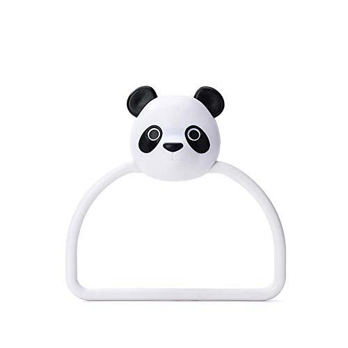 Hacoly - Toallero de plástico con diseño de Panda de Dibujos Animados, para baño, Cocina, Almacenamiento de Toallas, como se Muestra en la Imagen, 13,5 cm x 15 cm
