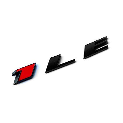 Yoaoo 1x OEM Camaro 1Le Emblem Badge Letter Rear Side 1Le Door Genuine Matte Black Red