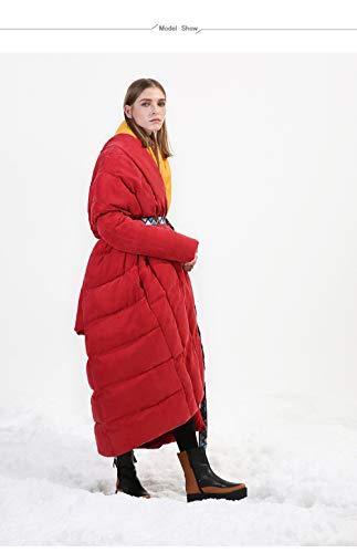 DPKDBN Women's Down Jacket, mantel type dikker winter witte eendenjas plus size vrouwelijke lange donsjack zachte stof winter collectie
