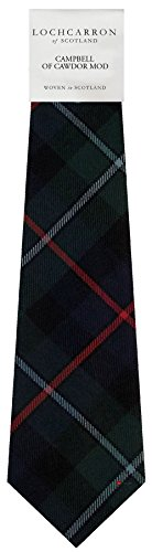 I Luv Ltd Gents Neck Tie Campbell of Cawdor Modern Tartan Lightweight Scottish Clan Tie