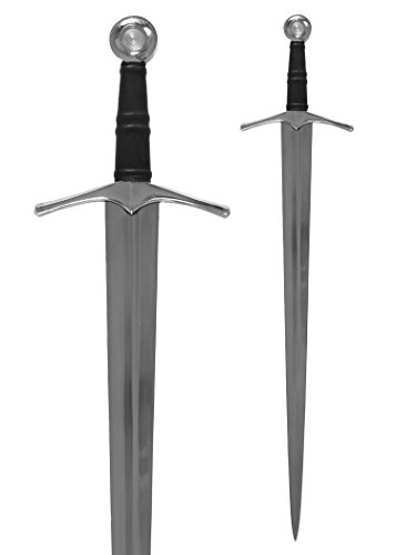 Mittelalterlicher Einhänder Schwert aus Metall - geschmiedet -Gesamtlänge 90 cm - Dekoschwert Normannen Schwert Eisen für Erwachsene