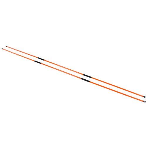 Dilwe Fiberglas Golf Alignment Stick Dreifach gerichtetes Zubehör für das Kalibrierungsziel der Golfausrüstung