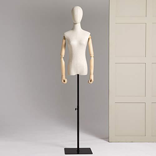 E.enjoy Maniquíes de Costura Mujer Confección Sastres maniquí modistas Busto Exhibidores el maniquí en un metal base con estilo, los modelos falsos, varios estilos