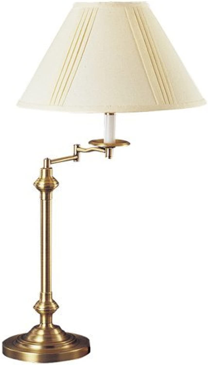 Cal Lighting BO342AB Swing Arm Table Lamp, 150watt, Antique Bronze by Cal