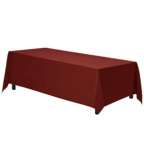 Gee Di Moda Rectangle Tablecloth - 90 x 156 Inch - Burnt Orange Rectangular Table Cloth for 8 Foot Table in Washable Polyester - Great for Buffet Table, Parties, Holiday Dinner, Wedding & More
