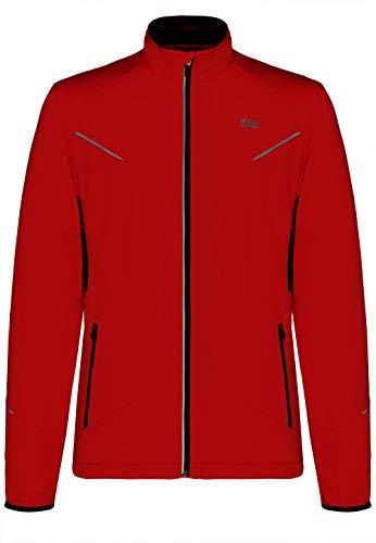 TAO Sportswear, Pulse Jacket, léger et imperméable Veste d'hiver de Course avec réflecteurs Rouge XXL Flame Red