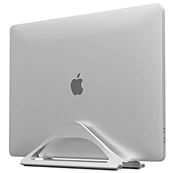 HumanCentric Vertical Laptop Stand for Desks  Silver    Adjustable Holder to Dock Apple MacBook MacBook Pro and Other Laptops to Organize Work & Home Office
