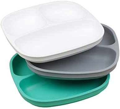 Re Play Made in The USA 3pk Toddler Feeding Divided Plates with Deep Sides for Easy Baby Toddler product image