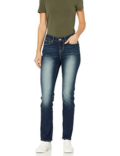 Signature by Levi Strauss & Co Women's Curvy Straight Jeans Pants, Splendor, 6 Short