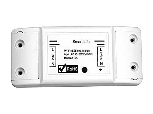 LEDLUX Interruptor inteligente WiFi 220 V 16 A 3500 W Smart Switch WiFi Compatible con Alexa y Google Home
