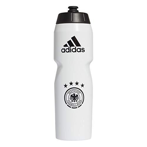 adidas Herren DFB Bottle Trinkflasche, White/Black/LGH solid Grey, NS