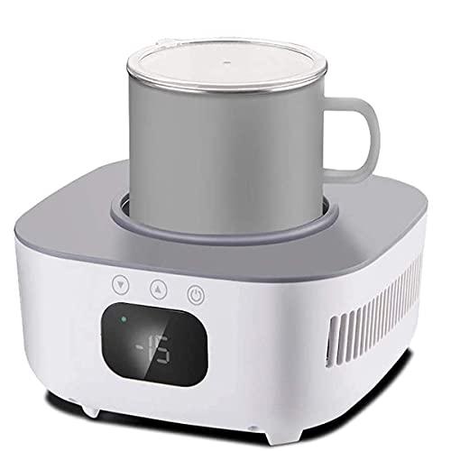 JJINPIXIU Enfriador de Tazas, Calentador de Tazas de café Enfriamiento de Tazas de Bebidas, Soporte de Taza de enfriamiento y Calentamiento Inteligente, para Calentador de Agua y Leche para viajeros
